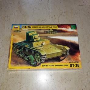 ZVEZDA.3540 SOVIET FLAME THROWER TANK OT-26 1/35